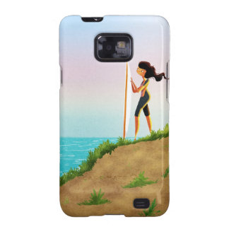 Surfer Girl Samsung Galaxy SII Covers