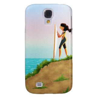Surfer Girl Samsung Galaxy S4 Cases