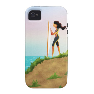 Surfer Girl Vibe iPhone 4 Case