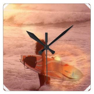 Surfer Girl Clock