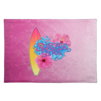 Surfer Girl Cloth Placemat
