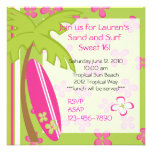 Surfer Girl Custom Invitation