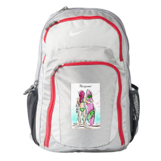 Surfer Girl custom name backpacks