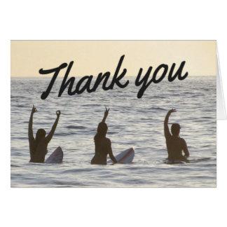 Surfer Girl Friends Thank You Notecard