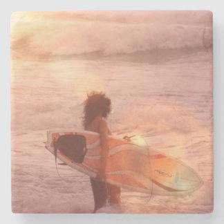 Surfer Girl Stone Coaster