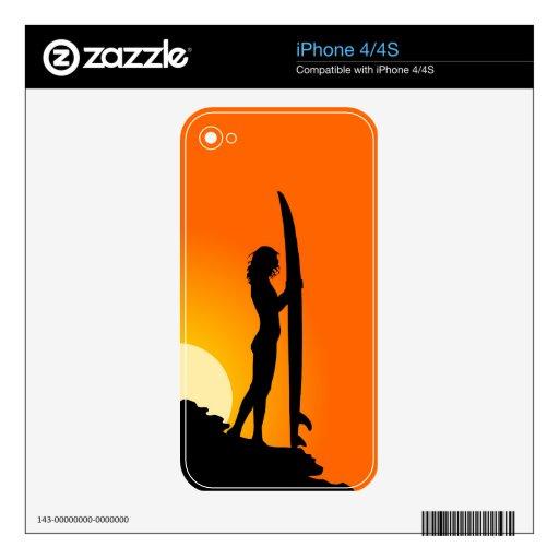Surfer Girl iPhone 4/4S Skin iPhone 4 Skin