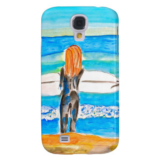 Surfer Girl iphone cover Samsung Galaxy S4 Case