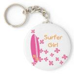 Surfer Girl Keychain