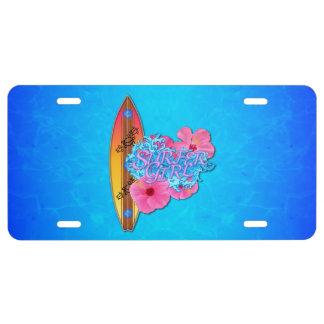 Surfer Girl License Plate