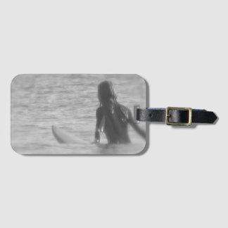 Surfer Girl Luggage Tag