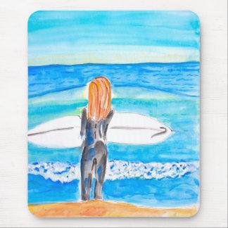 Surfer Girl Mousepad