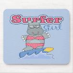 Surfer Girl Mousepads