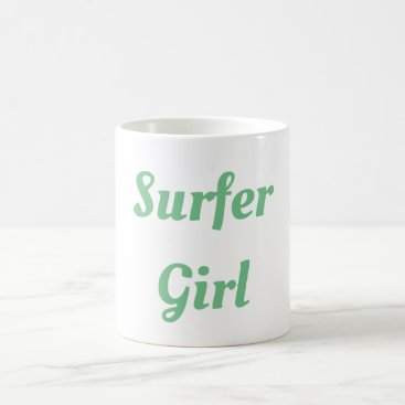 Beach Themed Surfer Girl mug