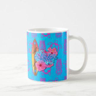 Surfer Girl Coffee Mugs