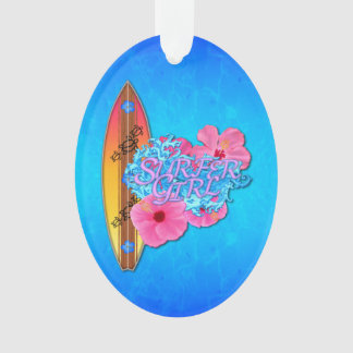 Surfer Girl Ornament