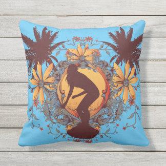 Surfer Girl Outdoor Pillow