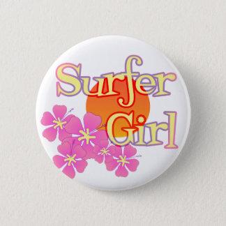 Surfer Girl Pinback Button