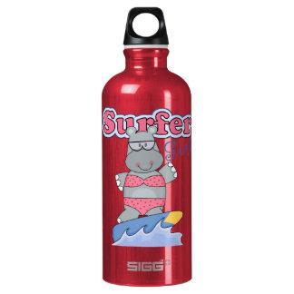Surfer Girl Pink Sports Bottle