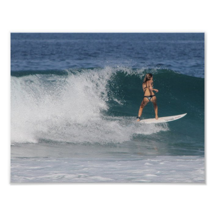 GONE SURFING SEA WAVES BRUSH POSTER PICTURE PRINT Sizes A5 to A0 **NEW**