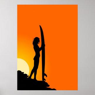 Surfer Girl Poster
