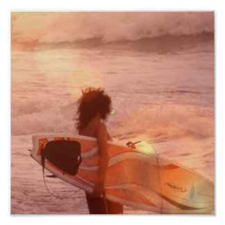 Surfer Girl Poster Print