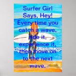 Surfer Girl Print