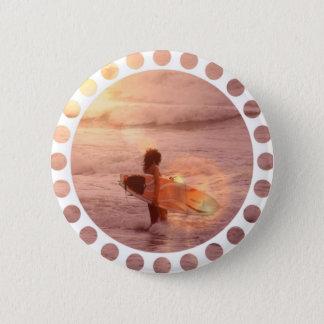 Surfer Girl Round Button