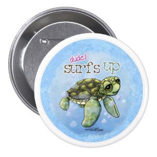 Surfer Girl Seaturtle button