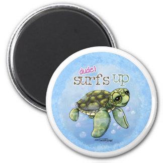 Surfer Girl Seaturtle magnet