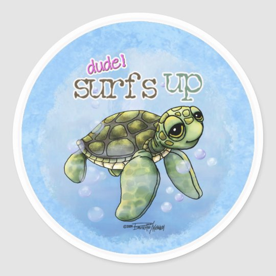Surfer Girl Seaturtle stickers