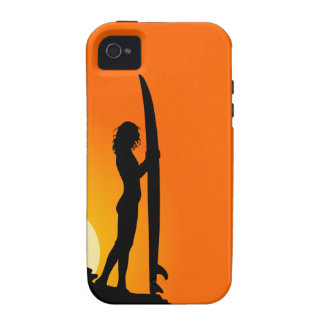 Surfer Girl Silhouette iPhone 4 Tough Case-Mate iPhone 4 Covers