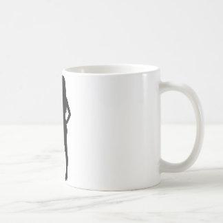 Surfer Girl Silhouette Coffee Mugs