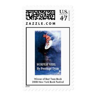 Surfer Girl stamp. Postage