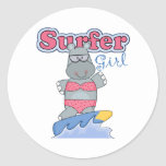 Surfer Girl Stickers