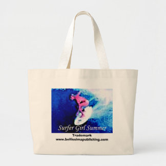Surfer Girl SummerTrademark Bag. Large Tote Bag