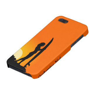 Surfer girl sunset surfing iphone case cover