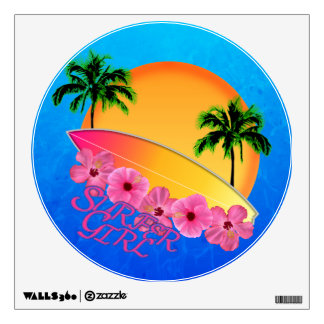 Surfer Girl Wall Decal