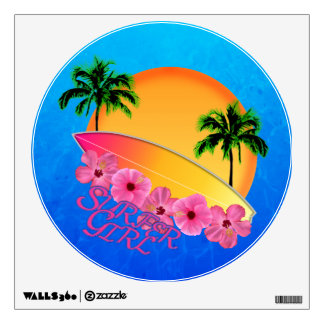 Surfer Girl Wall Sticker