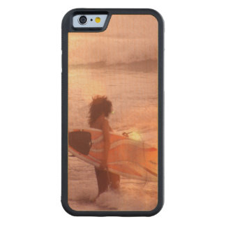 Surfer Girl Carved® Maple iPhone 6 Bumper Case