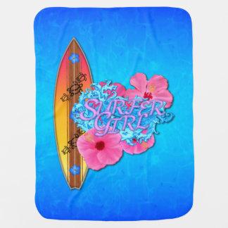 Surfer Girl Stroller Blankets