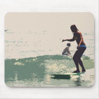 Surfer girls rock mouse pad