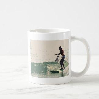 Surfer girls rock coffee mugs