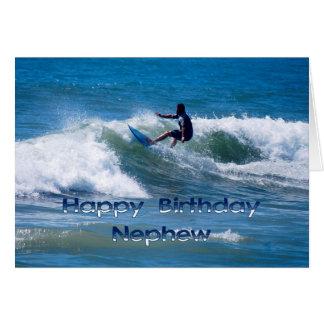 Surfer Happy Birthday Nephew Card