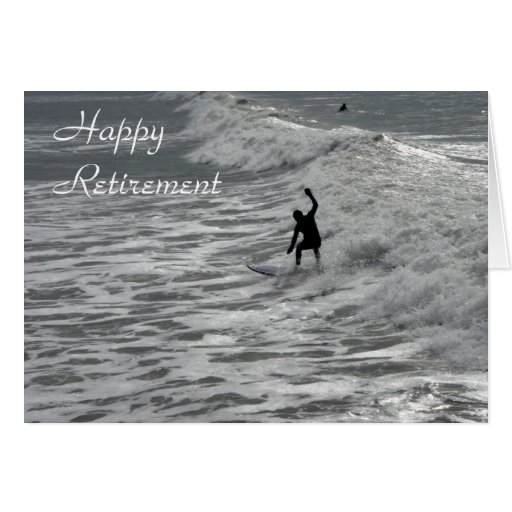 Surfer happy retirement card