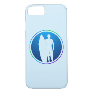 Surfer Holding Surfboard iPhone case