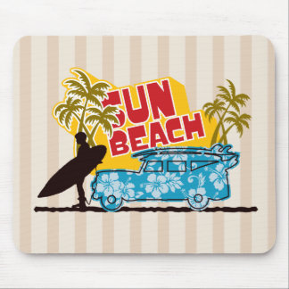 Surfer Illustration Mouse Pad