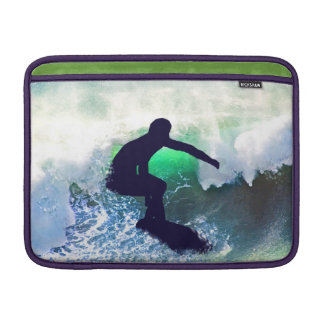 Surfer in a Big Crashing Wave Sleeve For MacBook Air