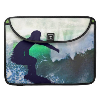 Surfer in a Big Crashing Wave Sleeves For MacBook Pro