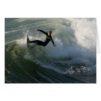 Surfer in a Wetsuit  Greeting Card