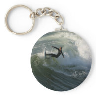 Surfer in a Wetsuit  Keychain